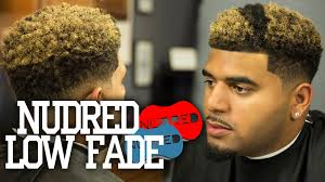 how to nudred low fade w blond coloring men u0027s haircut tutorial