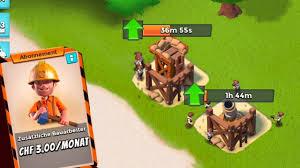 two builders in boom beach update upgrade multiple buildings