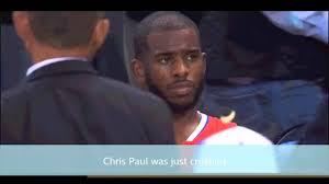 Chris Paul Memes - sad chris paul gets meme treatment youtube
