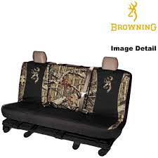 rear car truck suv bench seat cover camouflage browning