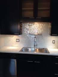 Glass Mosaic Kitchen Backsplash by Mixed Cloud White Glimmer Glass Tile Kitchens House And Glitter