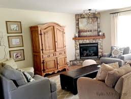 living room armoire corner fireplace with southwestern style tv armoire cabinet in a