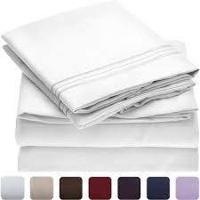 bed sheet set queen mellanni fine linens