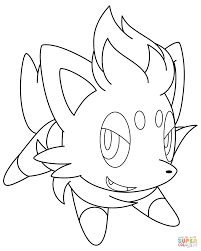zorua pokemon coloring page free printable coloring pages