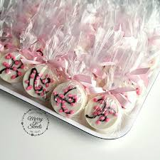 Edible Birthday Favors by Chocolate Covered Oreos Cherry Blossom Birthday Edible