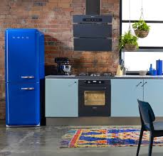 Blue Kitchen Decorating Ideas Kitchen Style Retro Kitchens Decorating Ideas Blue Refrigerator