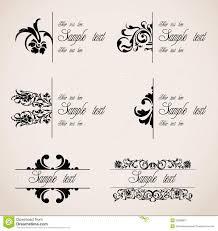 classic border ornaments vector set stock vector image 32989807