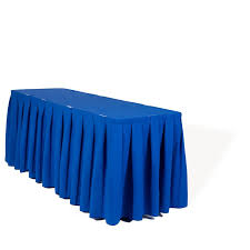 cobalt blue table l blue table skirting clips 15 required