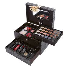Makeup Set black glitter box with gold tassel makeup set s