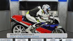 motorcycle racing gear race suit sizing guide motorcycle superstore youtube