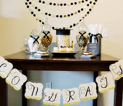 Homemade Graduation Party Centerpieces by Diy Congrats Banner B Lovely Events