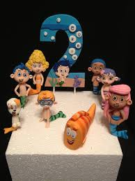 guppie cake toppers set of 8 3d guppies and a number fondant cake decorations