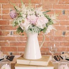 shabby chic cream metal jug wedding tables table decorations