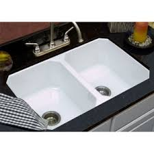 Belfast VB Ceramic Kitchen Sink With Twin Double Bowls - Double bowl kitchen sink undermount