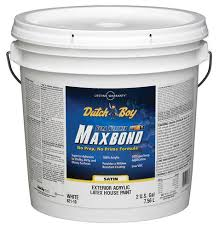 dutch boy dura weather maxbond white satin exterior latex paint