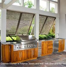 Outdoor Kitchens Tropical Patio Charleston By Strathmore - Outdoor kitchen cabinets polymer
