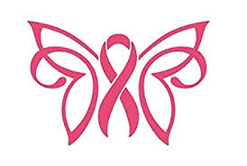 amazon com breast cancer butterfly ribbon decal vinyl sticker