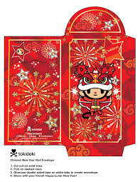 new year envelopes celebrate the lunar new year with this diy envelope tokidoki