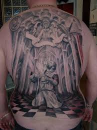 templar knight backpiece tattoo tattoos by kali flickr