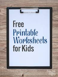 Free Printable Worksheets Free Printable Worksheets For