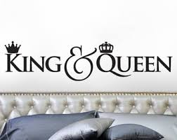 Luxury Design King And Queen Wall Decor Bedroom Crown Decoration