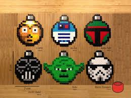 wars ornaments wars christmas ornaments and magnets made from perler