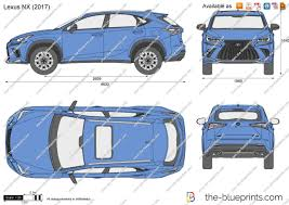 blue lexus nx the blueprints com vector drawing lexus nx