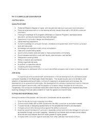 Marketing Coordinator Job Description Resume by Resume For Coordinator Position Free Resume Example And Writing
