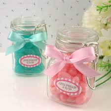 jar favors square glass spice jar favor and baby things baby favors and