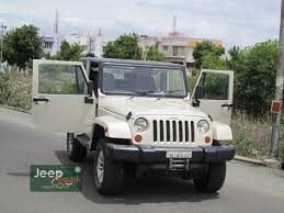 modified white jeep wrangler mahindra thar modified in to rubicon jeepclinic