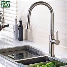 aliexpress com buy flg pull out kitchen faucet polished nickel
