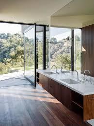 modern timber kitchen oracle fox sunday sanctuary oak pass house california modern
