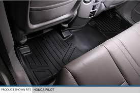 honda pilot all weather mats amazon com maxfloormat floor mats 3 row set black for 2009 2015