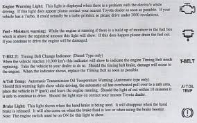 toyota corolla warning signs dash symbols and meanings