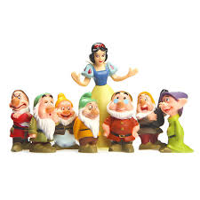8pcs set snow white and the seven dwarfs 7 ornaments to do