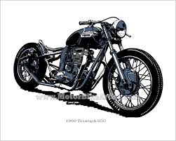vintage motorcycle tattoo designs triumph bobber vintage classic
