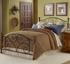 Metal Bedroom Furniture Fashion Bed Group Wood And Metal Beds Queen Doral Bed W Frame