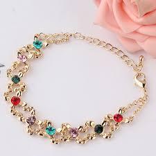 fashion charm bracelet images New fashion gold color coloful crystal rhinestone charm bracelet jpg