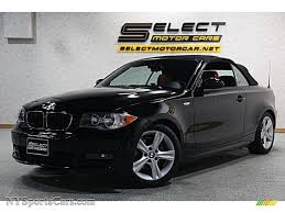 black convertible bmw 2008 bmw 1 series 128i convertible in jet black h77639