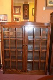 oak bookcases with glass doors antique mission style oak barrister bookcase display cabinet tiger