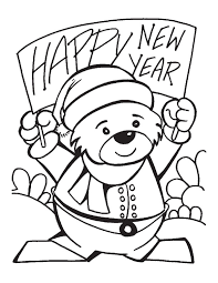 happy new year preschool coloring pages new year s coloring pages new years eve pinterest free