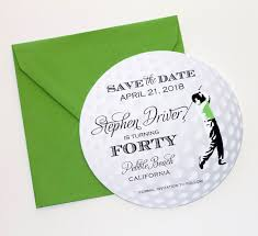 golf save the date card golf invitation golf themed