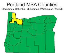 Portland Oregon County Map by Portland Metro Oregon Office Of Economic Analysis