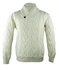 wool sweater 100 merino wool shawl collar aran sweater amazon ca