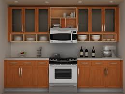 kitchen brown full kitchen cabinet with glass door kitchen wall brown full kitchen cabinet with glass door kitchen wall cabinet and plate racks plus kitchen shelves also wall microwave above modern range cooktop 1