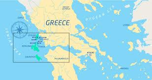 Kefalonia Greece Map by The Journey U2013 Greek Odyssey
