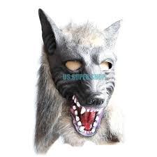 creepy horse unicorn zebra wolf head cosplay animals halloween
