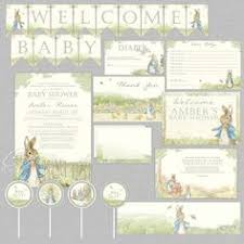 rabbit party supplies rabbit baby shower printable rabbit party decorations
