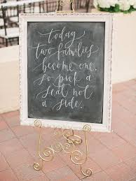 wedding seating signs 18 unique chalkboard wedding sign ideas