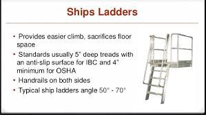 Handrail Requirements Osha Ships Ladder Osha Code 1910 25 And Ibc 1011 15 Code